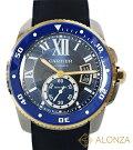 【Aランク】CARTIERカルティエカリブルドゥカルティエダイバーブルー自動巻きメンズ腕時計W2CA0008