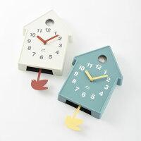 掛け時計壁時計振り子時計BURUNOブルーノバードモビールクロックアイボリーBCW034