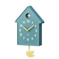 掛け時計壁時計振り子時計BURUNOブルーノバードモビールクロックブルーBCW034