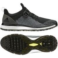 アディダス ゴルフシューズ フォージファイバー ボア メンズ ゴルフ ダイヤル式スパイクレスシューズ 2E : ブラック adidas