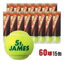 【全品10%OFFクーポン対象】DUNLOP(ダンロップ)「St.JAMES(セントジェームス)(15缶/60球)」テニスボール