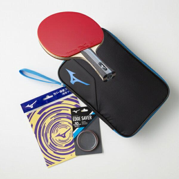 ミズノテクニックススターターセット2020年モデルTECHNIXブラック/ブルー83JTT09027卓球ラケット競技用貼り上りラ