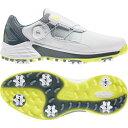 【6/1】買えば買うほど★最大10%OFFクーポン アディダス ゴルフシューズ ZG ゼットジー21 ボア (KZI02) メンズ ゴルフ ダイヤル式スパイクシューズ 3E ホワイト×イエロー adidas・・・