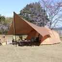イグニオ トンネルテント ヘキサゴンタープセット IG 19416TTPKG-T キャンプ ドームテント ツールームテント 2ルームテント 大型 4人用 IGNIO