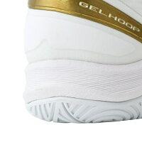 アシックス ゲル フープ GELHOOP V11 (1061A015) バスケットボール シューズ : ホワイト×ゴールド レギュラー asics