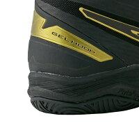 アシックス ゲル フープ GELHOOP V11 (1061A017) バスケットボール シューズ : ブラック×ゴールド ワイド asics