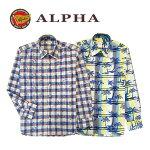 《送料無料》1897年創業アルファー【ALPHA】綿100%日本製メンズ・カジュアルシャツ