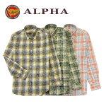 《送料無料》1897年創業アルファー【ALPHA】メンズ・長袖シャツ日本製