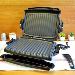 ジョージフォアマン 電気グリル ホットプレート George Foreman GRP101CTG 100-Square-Inch Nonstick Grill with Griddle Plates 家電