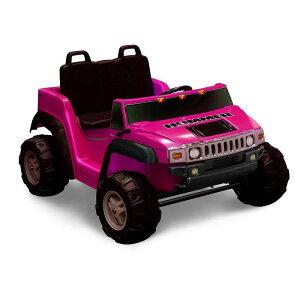 【組立要】キッドモーターズ 2人乗りハマー H2ガールズ 子供用電気自動車 12VバッテリーKid Motorz Two-Seater Hummer H2 Girls' 12-Volt Battery-Operated Ride-On, Pink