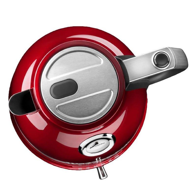 キッチンエイド プロライン 温度計付 温度調節可能 電気ケトル 1.5L キャンディアップルレッド KitchenAid KEK1522CA Kettle - Candy Apple Red Pro Line Electric Kettle 家電