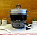 アロマ 6カップ 炊飯器 フードスチーマー ブラック 黒 Aroma ARC-743-1NGB Rice Cooker and Food Steamer Black 家電