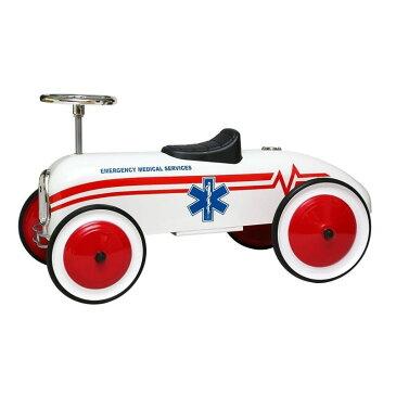 【組立要】モルガン・サイクルレトロスタイル・EMS救急車子供 白Morgan Cycle Retro Style EMS Ambulance Children Foot to Floor Ride-On, White