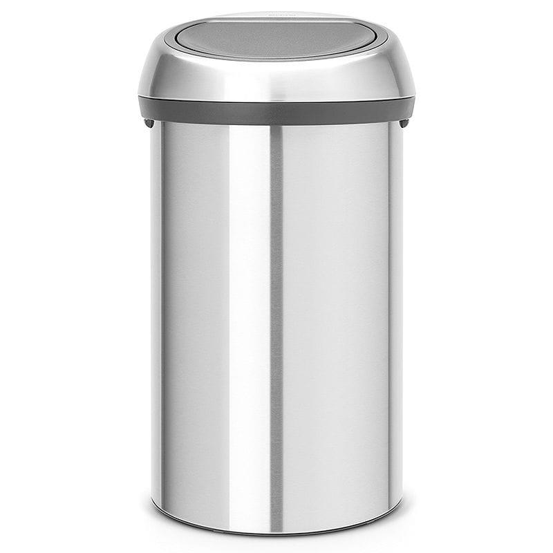 ブラバンシア ゴミ箱 60L ステンレス Brabantia Touch Trash Can 16 gallon/60 liter - Matte Steel Fingerprint-Proof, 484506【代引不可】