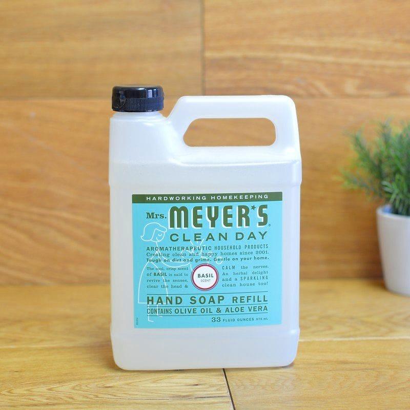 ミセスマイヤーズ ハンドソープ 石けん 975ml バジル Mrs. Meyers Liquid Hand Soap Refill, Basil Scent