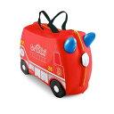 トランキ 子供用スーツケース 消防車 赤 レッド 乗って遊べる 座れる 機内持ち込み おもちゃ箱 Trunki The Original Ride-On Frank Suitcase, Red 3