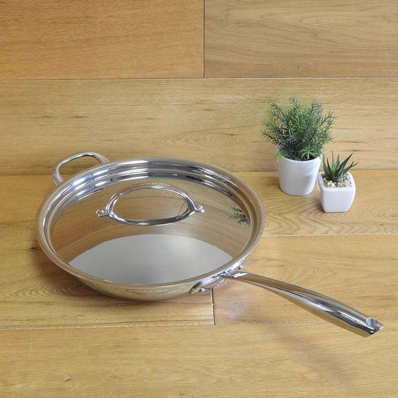 鍋・フライパン, フライパン  30cm PFOA Williams-Sonoma Thermo-Clad Stainless-Steel Nonstick Covered Fry Pan