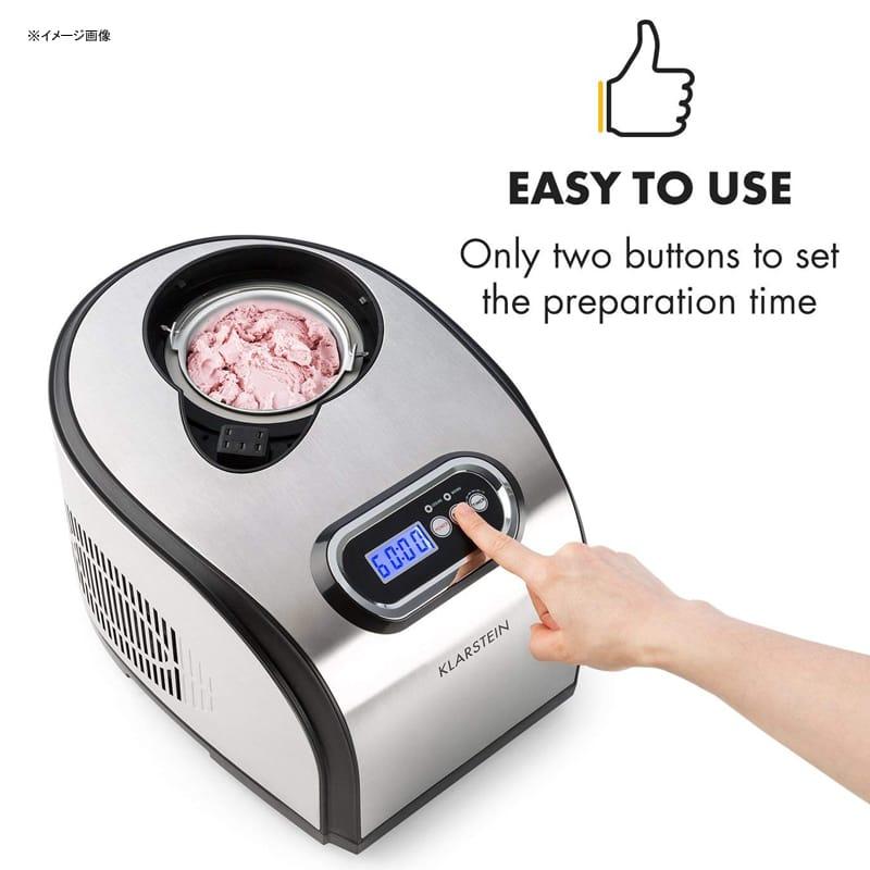 アイスクリームメーカー コンプレッサー内臓 1.5L ジェラート ソルベ フローズンヨーグルト KLARSTEIN Sweet Dreams Ice Cream Maker Compression Cooling 家電