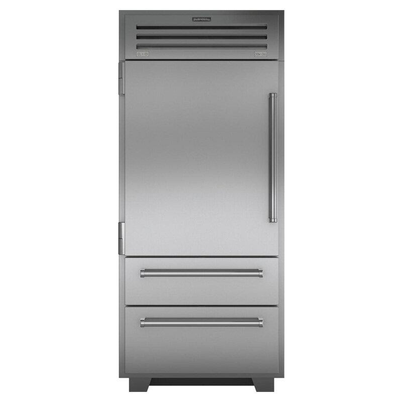 冷蔵庫 自動製氷機 ビルトイン アンダーカウンター 640L ステンレス 幅91cmSub-Zero Built-In Bottom Freezer Refrigerator with Air Purification System, Water Filter, Automatic Ice Maker PRO3650LH 家電