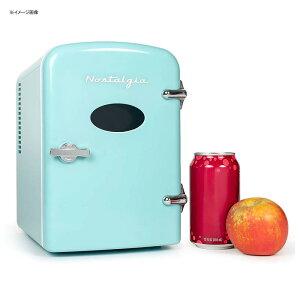 ミニ 冷温庫 温冷 保冷 保温 6缶 4L 車載可 アクア 水色 ノスタルジア Nostalgia Retro 6-Can Personal Cooling and Heating Refrigerator in Aqua 家電