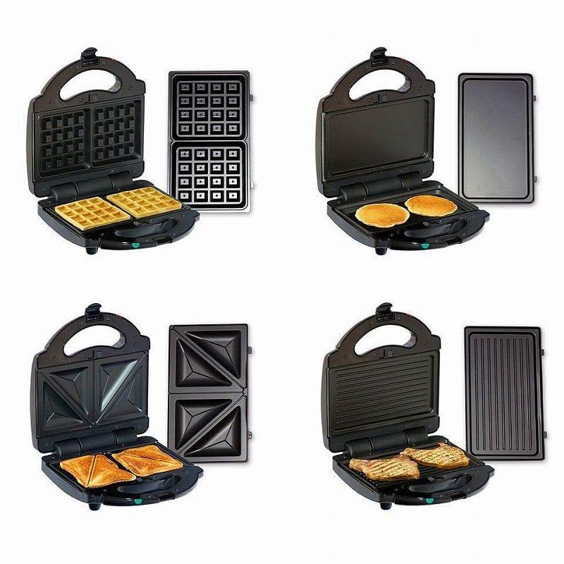 トータルシェフ ワッフル サンドウィッチ グリドル グリルメーカー 1台4役 Total Chef TCG08G-CA 4IN1 Sandwich, Waffle, Grill & Griddle 家電