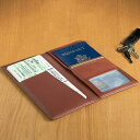 革製 パスポートケース ブラウンLeather Ticket and Passport Holders Tan