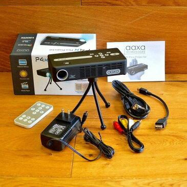 ポケット プロジェクター (95ルーメン) マイクロSDカードスロット付AAXA 95 Lumens P4 Pico Pocket Projector