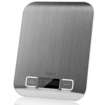 デジタル マルチファンクション キッチンスケール 計量器 5kgまでElec3 Digital Multifunction Kitchen and Food Scale