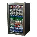 冷蔵庫 ミニバー ガラスドア オフィス 事務所 ニューエアー ビバレッジクーラー 126缶 ホテル 客室 ショーケース かっこいい NewAir 126-Can Beverage Cooler AB-1200 家電