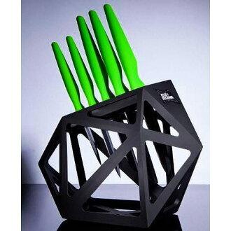 陶瓷外緣 5 套刀及刀座刀塊設置 5 件陶瓷廚房刀