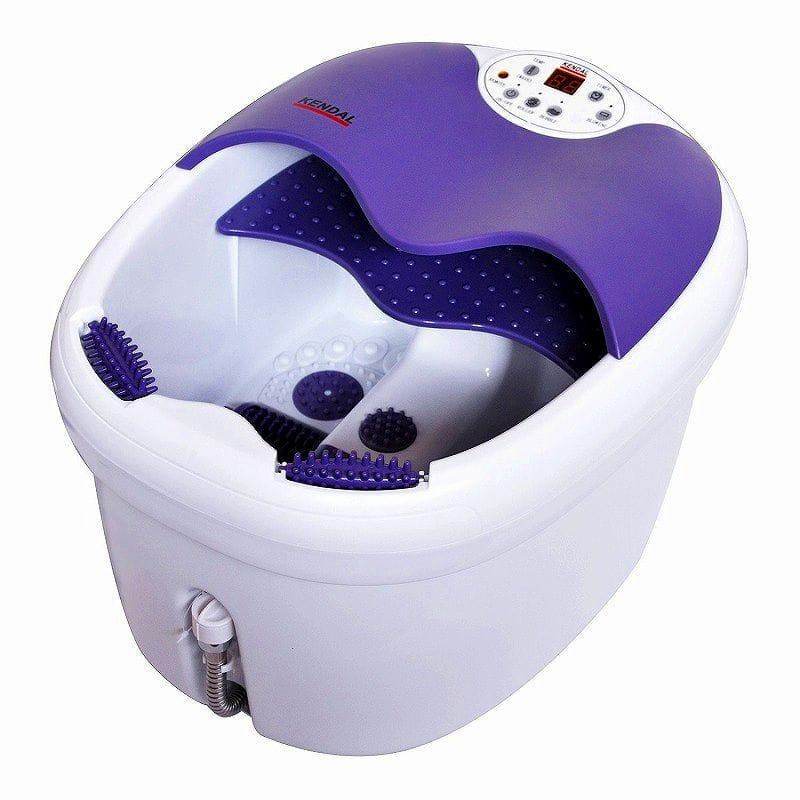 フットバス 足湯器 フットスパ マッサージ 持ち運び簡単 冷え性 足浴 エステ 電動ローラー付 Kendal All in one foot spa bath massager FBD1023