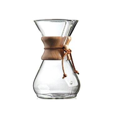 【訳あり】ケメックス ガラス×ウッド 木 コーヒーメーカー 8カップ Chemex Wood Collar Glass Coffee Maker