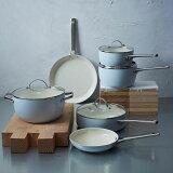 フライパン グリーンパン 鍋10点セット PFASフリー PFOAフリー ライトブルー GreenPan Padova Ceramic Non-Stick 10Pc Cookware Set, Light Blue