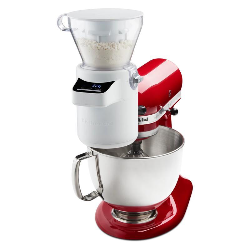 キッチンエイド デジタルスケール ふるい はかり スタンドミキサー用 アタッチメント キッチンスケール BPAフリー KitchenAid KSMSFTA Sifter + Scale Attachment 4 Cup 家電