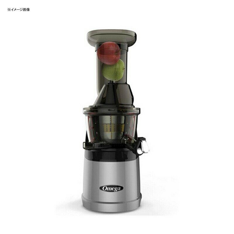 スロージューサー オメガ メガマウス 投入口が大きい シルバー Omega Juicers MMV700S MegaMouth Vertical Low Speed Quiet Juicer with Smart Cap Spout Tap, Silver 家電