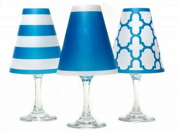 ディポッター ワイングラスシェード ナンタケット トリオ - アイル・ブルー 6点セット di Potter Wine shades Nantucket Trio - Isle Blue
