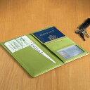 革製 パスポートケース グリーンLeather Ticket and Passport Holders Key Lime Green