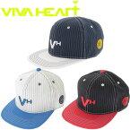 ビバハート VIVA HEART ゴルフ ストライプ フラット ブリム メンズ キャップ 013-56834