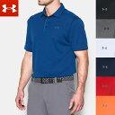 アンダーアーマー ヒートギア UA テック 半袖 メンズ ゴルフ ポロシャツ 1290140 UNDERARMOUR HEATGEAR USA モデル