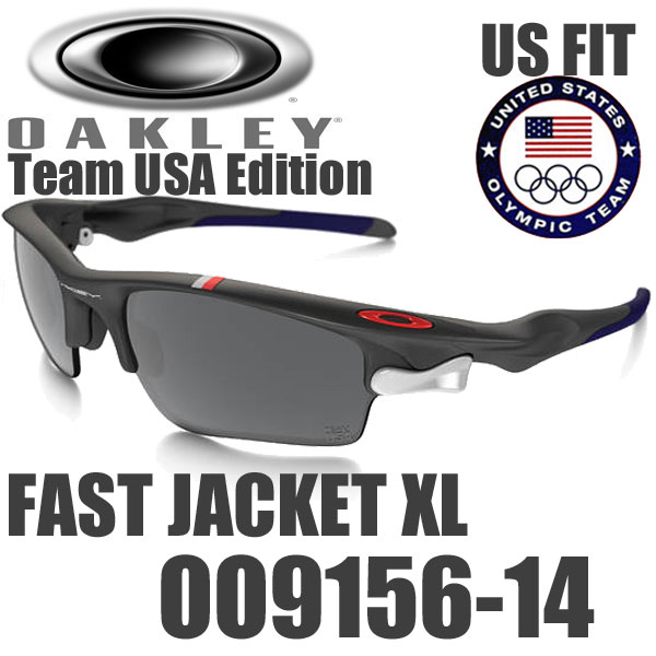 sunglass oakley usa  oakley team usa fast jacket xl sunglasses oo9156 14 us fit oakley team usa fast jacket xl usa models black iridium red iridium / matt grey dark grey