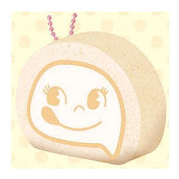 不二家ペコ&ポコ ペコちゃんロールケーキぷにぷにマスコット/ボールチェーン付/スーパースクイッシー(ミルキー)★Peko&Poko/Super Squishy Mascot!★ 625656