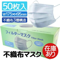 不織布マスク フリーサイズ/50枚入 [600036]