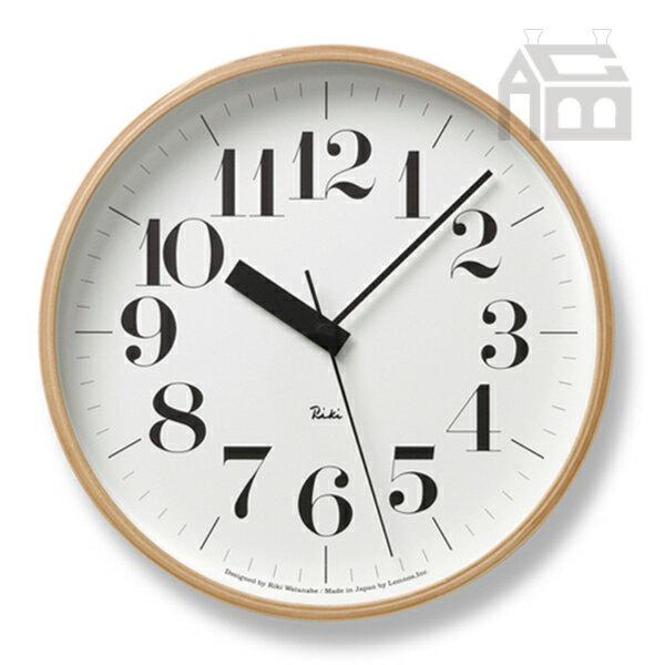 Lemnos Riki Clock レムノス リキ クロック RC WR20-02 WH 電波時計 掛け時計 かけ時計
