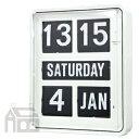 【ポイント10倍!】&【送料無料】!【ポイント10倍!】TWEMCO BQ-1700 WHITE 24hour トゥエンコ 大型カレンダー時計 [置き時計/おき時計]