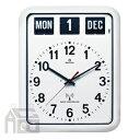 【ポイント10倍!】&【送料無料】!【ポイント10倍!】TWEMCO RC-12A WHITE トゥエンコ カレンダー時計 [置き時計/おき時計]