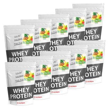 【10個セット】 アルプロン WPC ホエイプロテイン フルーツミックス風味 1kg(約50食)   正規品 ALPRON プロテイン whey たんぱく質 筋トレ ダイエット プロテインダイエット 女性 男性 公式[送料無料]