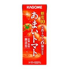 4ケースまで同一送料糖度10、完熟トマト6個分使用【カゴメ】 あまいトマト 200ml x 24本 【RCP】