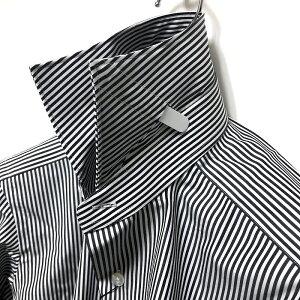 TOMORROWLANDトゥモローランド140/2ワイドカラーロンドンストライプシャツ