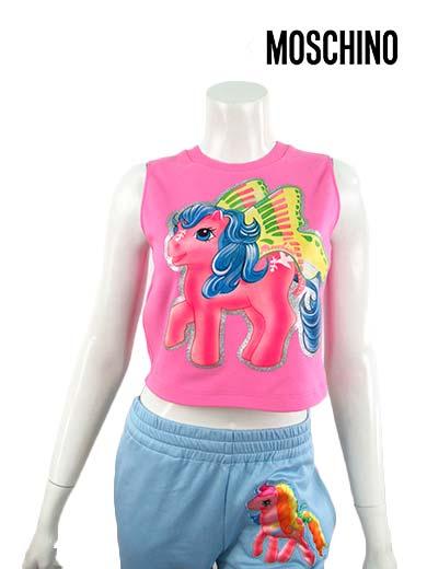 トップス, Tシャツ・カットソー 52,00090OFFMOSCHINO COUTUREMy Little Pony 384042