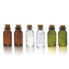お部屋に並べて置いてもかわいいアンティーク風ガラス瓶。インテリアプチボトル 2個セット